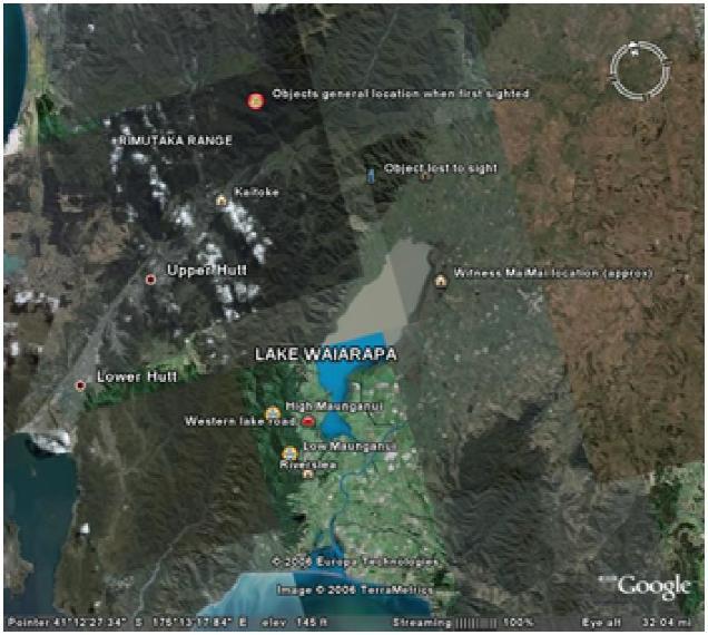 Gambar 1. Peta area penampakan.