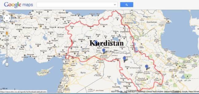 Kurdistan dan perbatasan yang eksis hari ini