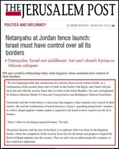 Jerusalem Post - Netanyahu Border