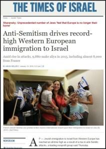Times of Israel - Rekor Migrasi Yahudi