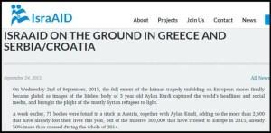 IsraAID - Di Tanah Yunani, Serbia, dan Kroasia