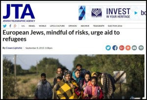 JTA - Yahudi Eropa bantu pengungsi