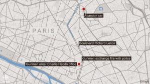 Peta Serangan Charlie Hebdo
