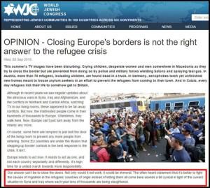 WJC - Krisis Pengungsi