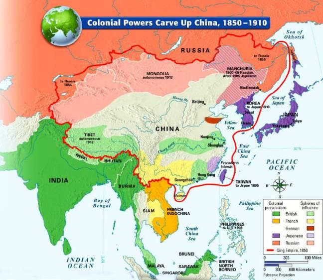 Kekuatan kolonial memotong-motong China