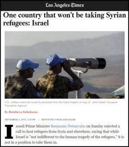 LA Times - Israel tak menerima pengungsi