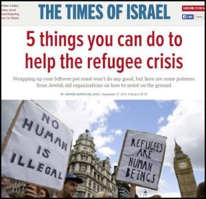 Times of Israel - 5 Cara bantu pengungsi