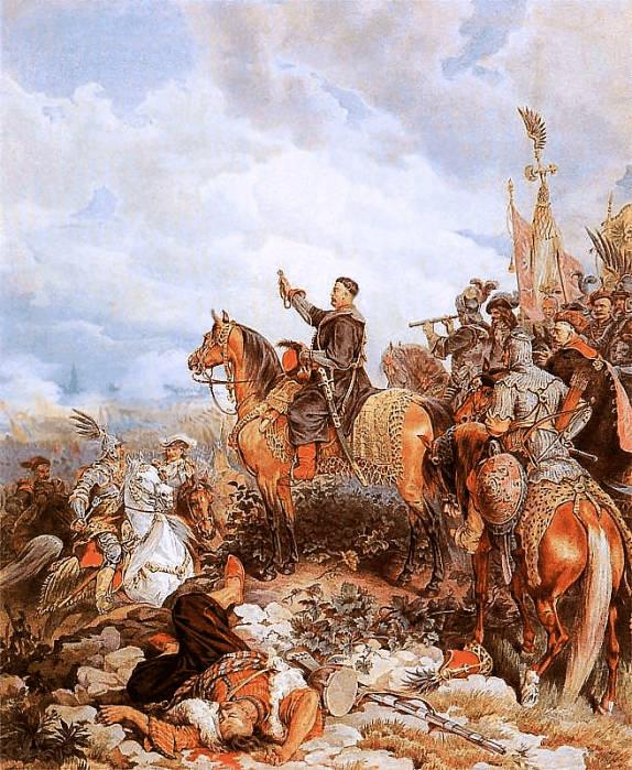 Raja Jan Sobieski mendoakan serangan Polandia terhadap Turki di Wina