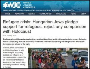 WJC - Yahudi Hongaria dukung pengungsi