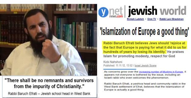 Rabbi Efrati Inginkan Eropa Islami